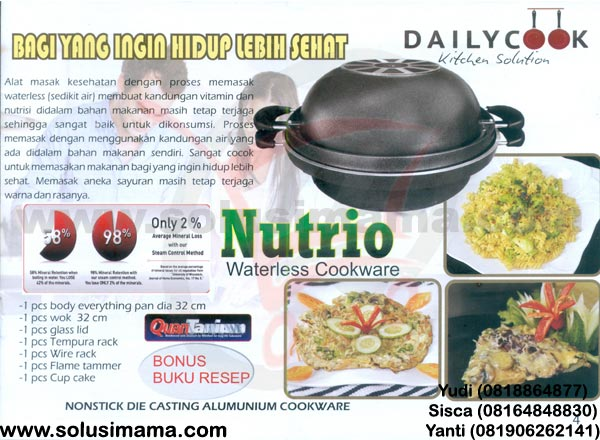 Nutrio Waterless Cookware