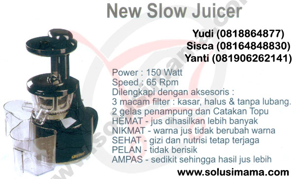 Solusi Mama - New Slow Juicer